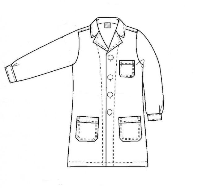Ανδρική Ρόμπα (Τεχνικό Σκίτσο)